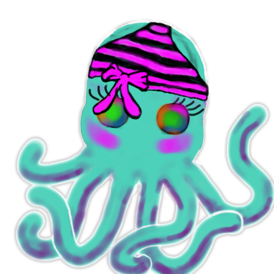 Tentacles with pantsus drawing trans bg