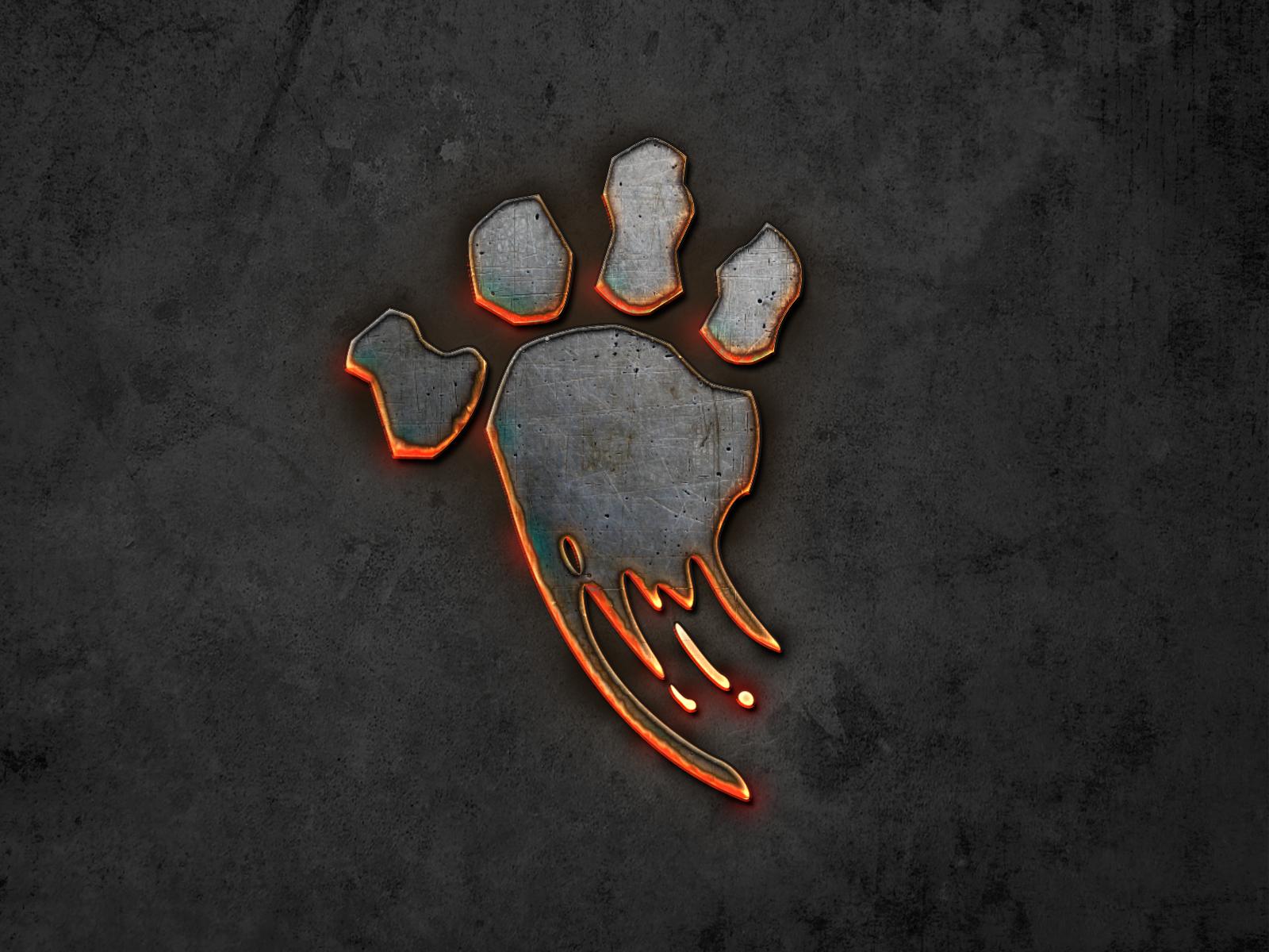 Fire metal paw
