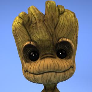 Cute groot fanart avatar fin