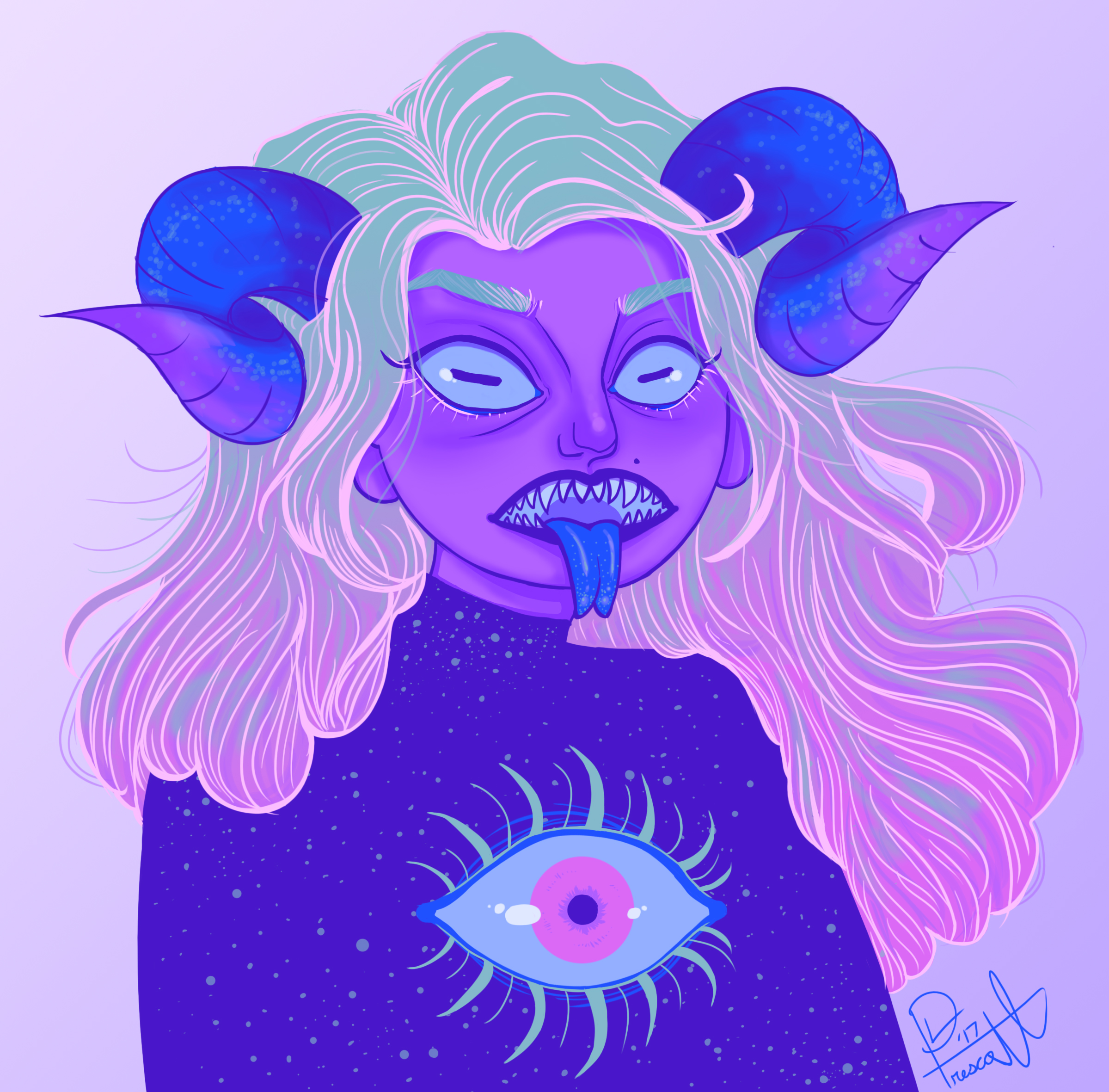 Cosmic demon portrait